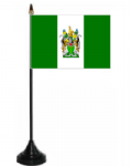 Rhodesia 1968-1979 Desk / Table Flag with plastic stand and base.
